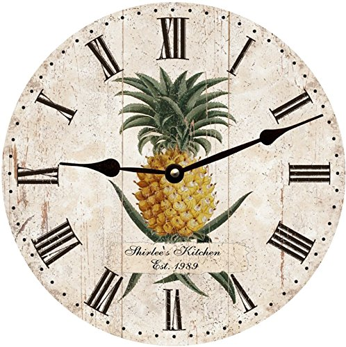(Pineapple Wall Clock- Personalized Pineapple Clock)