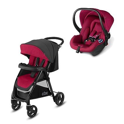 Cbx Travel System 2 en 1 - Cochecito Misu TS + silla de coche Shima, con cubierta para lluvia y adaptador para silla de coche, desde el nacimiento, ...