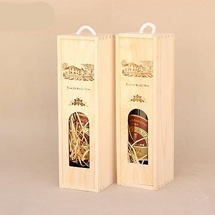 LTQ&qing (2pcs) caja de vino de embalaje caja hueca caja de regalo de vino