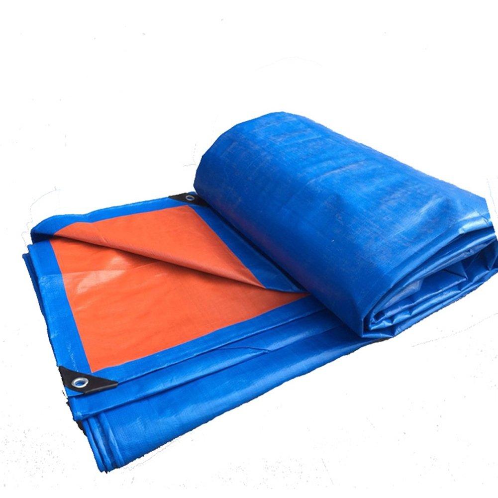 AJZXHE Tarpaulin, im Freien Wasserdichte doppelseitige feuchtigkeitsgeschützte Fracht Staub-Wärmeisolierung, blau + Orange -Plane