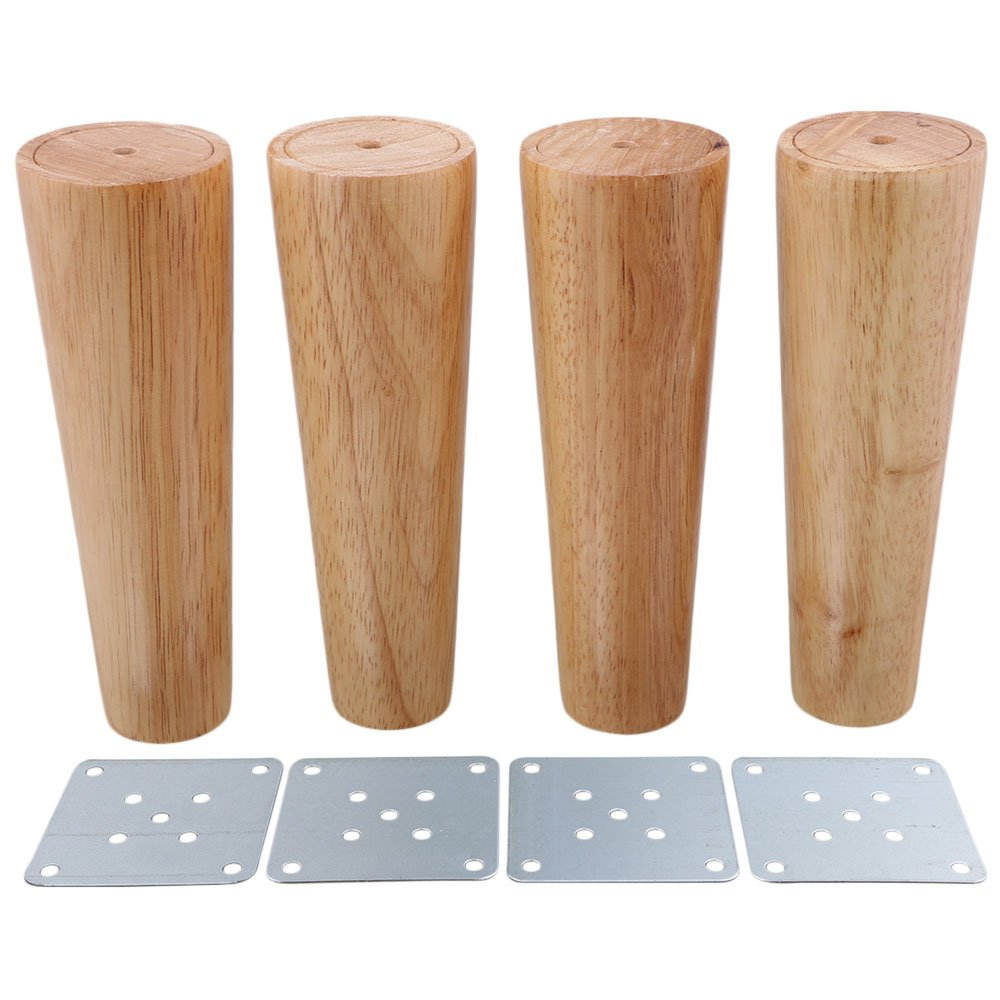 4pcs 7inch furniture parts sofa legs solid wood color tapered reliable wood furniture tea table tv cabinet legs sofa feet amazon co uk diy tools
