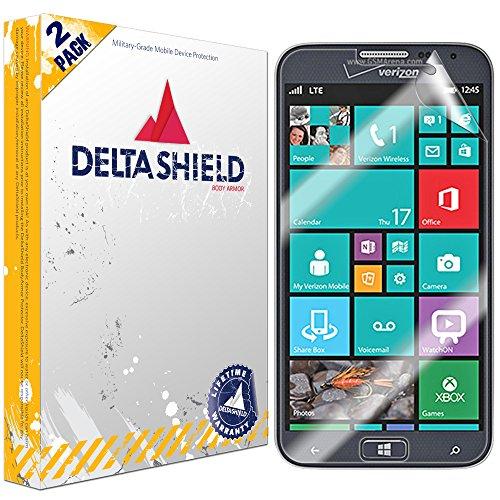 DeltaShield Screen Protector for Samsung ATIV SE (2-Pack) BodyArmor Anti-Bubble Military-Grade Clear TPU Film (Case Orange Se Samsung Ativ)