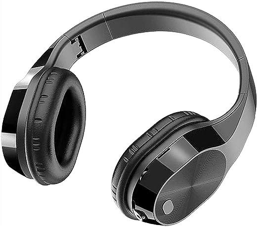 سماعة أذن، سماعة رأس سلكية Hao Shuo Fashion جديدة سماعات لاسلكية محمولة أنيقة مع ميكروفون فوق الأذن/على الأذن، سماعة رأس عالية الدقة قابلة للطي مع ميكروفون Prof