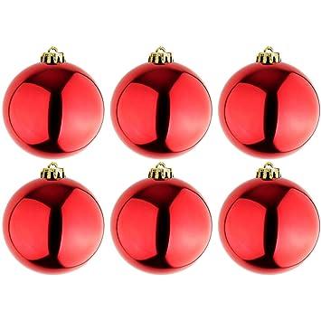 Christbaumkugeln Rot 15 Cm.Mojawo 6 Stück Xl Christbaumkugeln Weihnachtsbaumkugeln Baumschmuck Rot ø 15cm Schmuckkugeln