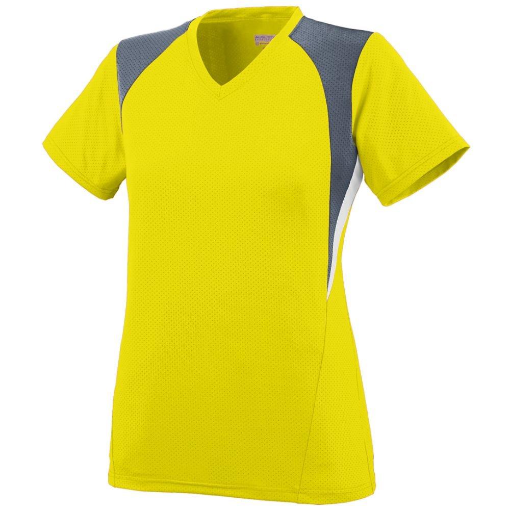 Augusta SportswearレディースMysticジャージー B00JPQ6KG8 3L|power yellow graphite white power yellow graphite white 3L