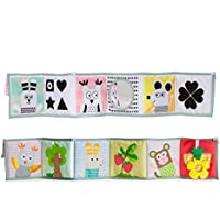 Leoie Bed Set Baby Bedding Set Crib Bumpers for Baby Crib Bumpers Guard Baby Multifunction Crib Bumper Baby Early Learning Cloth Book Puzzle Educational Toy