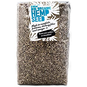 Hemp Seeds – Raw, Organic, Whole, in Eco Bio...
