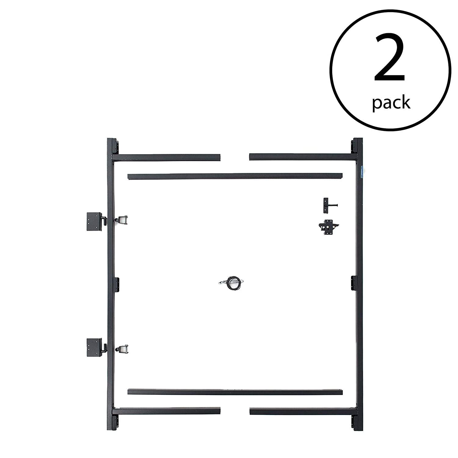 Adjust-A-Gate Steel Frame Gate Building Kit, 60 -96 Wide, 6 High 2 Pack