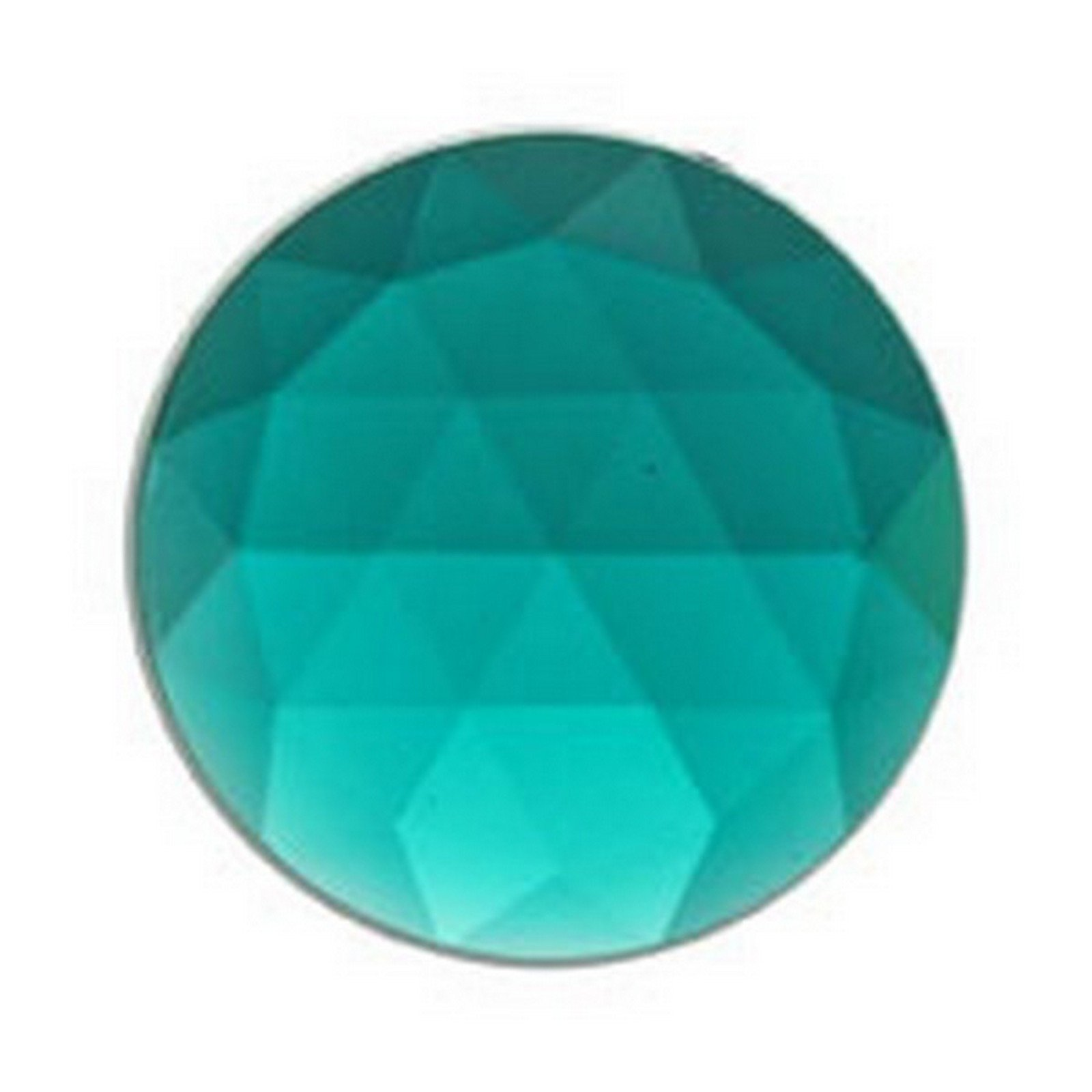 Stained Glass Jewels - 25mm Round Faceted - Teal (Pack of 4) By Stallings Stained Glass