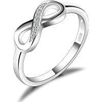 JewelryPalace Infinity Forever Love Cubic Zirconia Anniversary Promise Ring 925 sterling silver rings