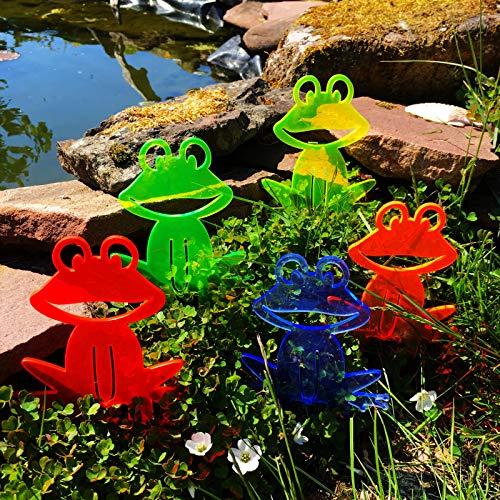 Suncatcher Happy Frogs | 150mm / 5,9'' Fluorescent Garden Ornament | Innovative Home Outdoor Decor for Garden & Pond, Colour:All 5 Colours