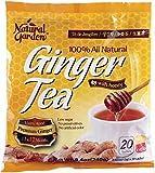 Natural Garden 100% All Natural Ginger Tea with Honey, 20 Tea Sachets