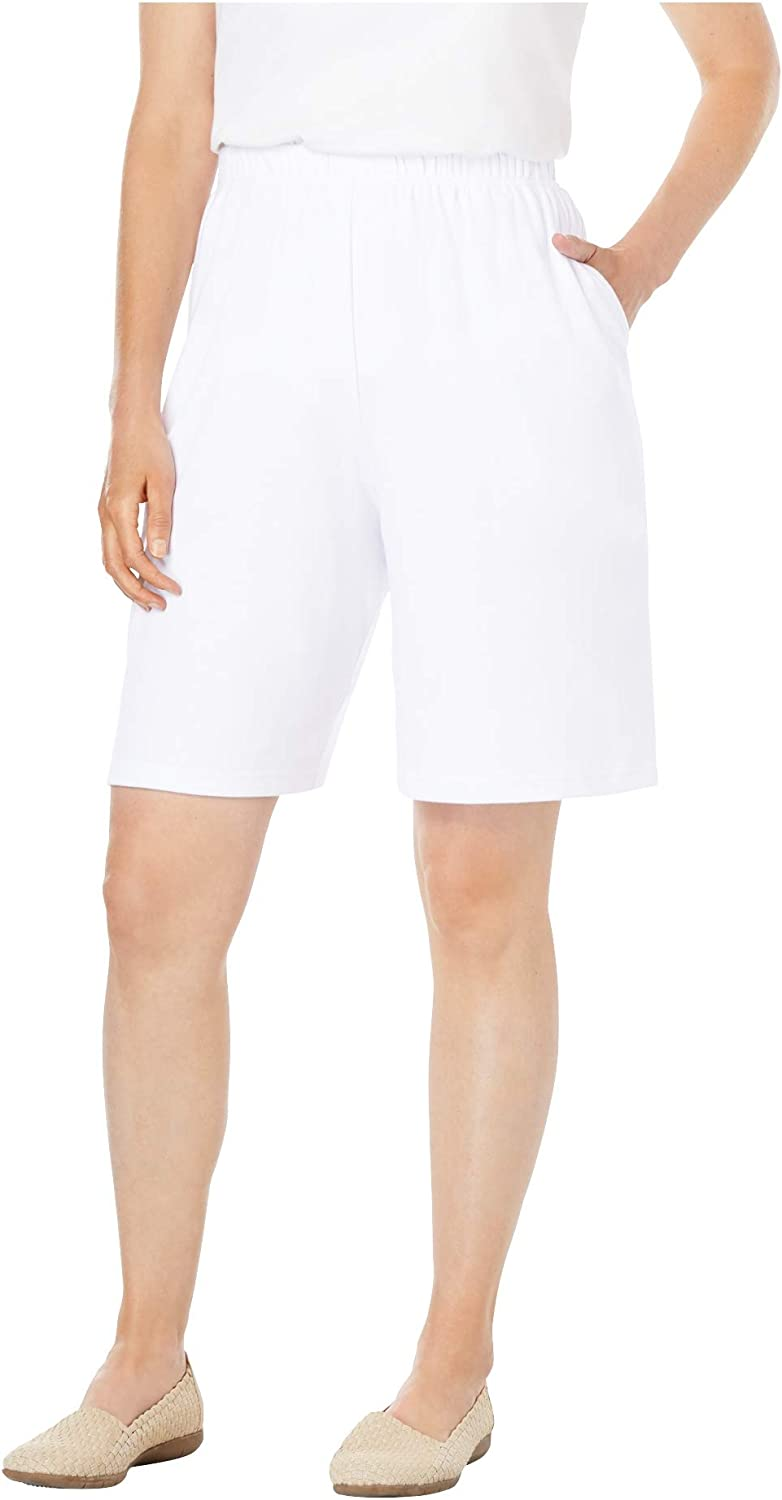 Woman Within Women's Plus Size 7-Day Knit Short