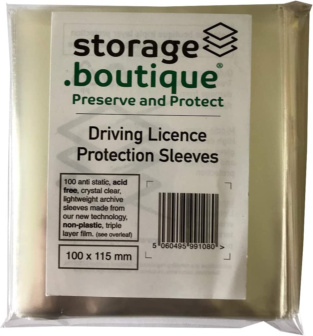 Acid Free for Velologists Crystal Clear 100x115mm Velology storage.boutique Vehicle Tax Disc Protection Sleeves 100