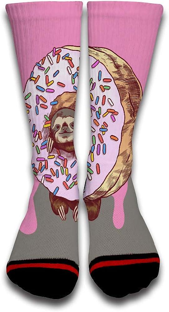 Lutra Donut Cute Novelty Design Creative Sport 3D Printed Crew Socks