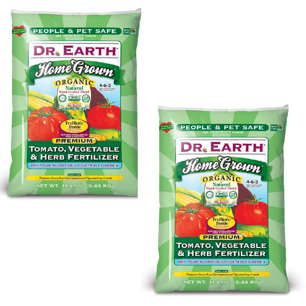 Dr. Earth Organic 5 Tomato, Vegetable & Herb Fertilizer Poly Bag (2 Pack (Each 12 lbs.)) by Dr. Earth