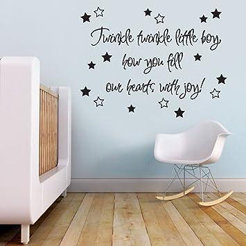 Vu0026C Designs Ltd (TM) Twinkle Twinkle Little Boy Baby Nursery Childrenu0027s  Bedroom Quote Wall Part 88
