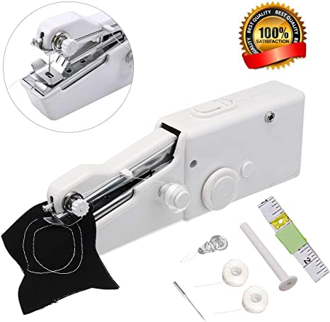 With 14 bobbins Handheld Sewing Machine,MSDADA Mini Portable Sewing Machine,Electric Household Quick Repairing Tool for Fabric,Kids Cloth,Handicrafts,Home Travel Use