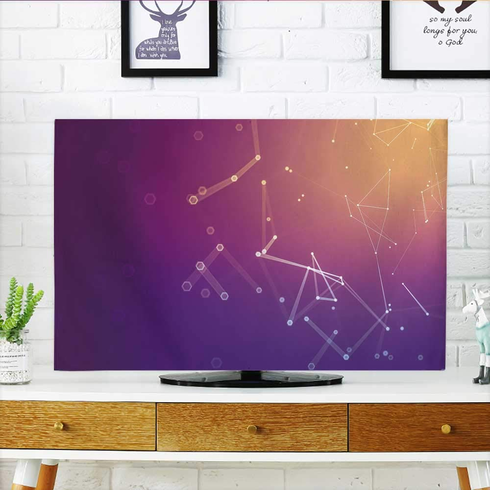 Philiphome tv dust Cover Polygonal Space Low Poly Background with Connect dots Dust Resistant Television Protector W19 x H30 INCH/TV 32''