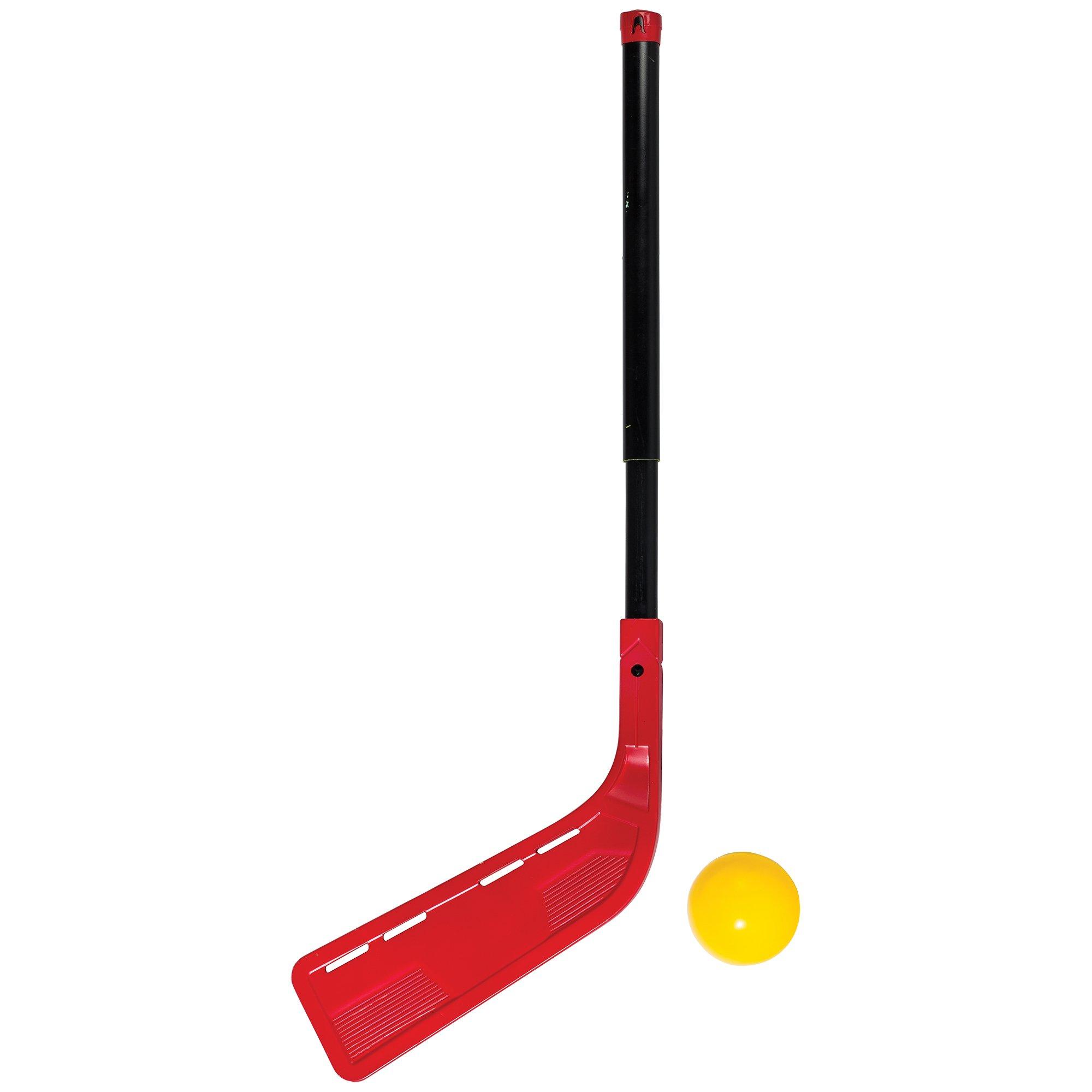 Franklin Sports Kids Hockey Stick And Ball Set - Oversize Adjustable Stick