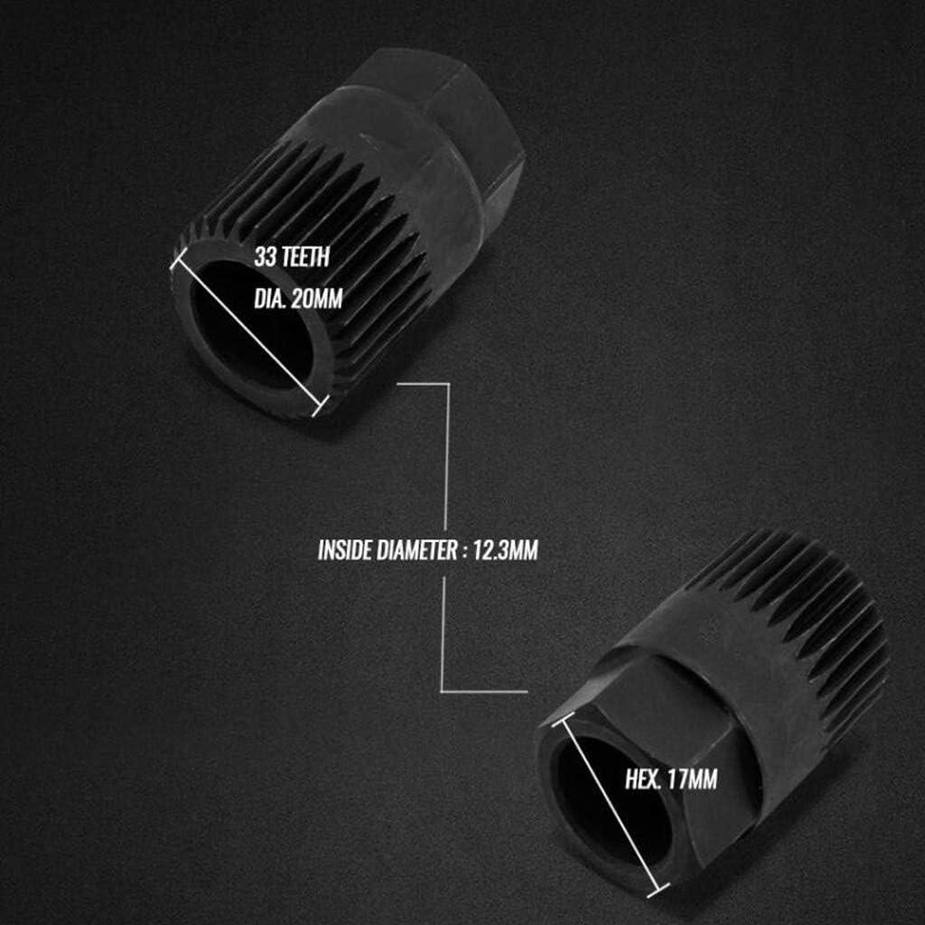 Toygogo Outil de Douille Dalternateur 33T pour D/émontage de Poulie de Roue Libre