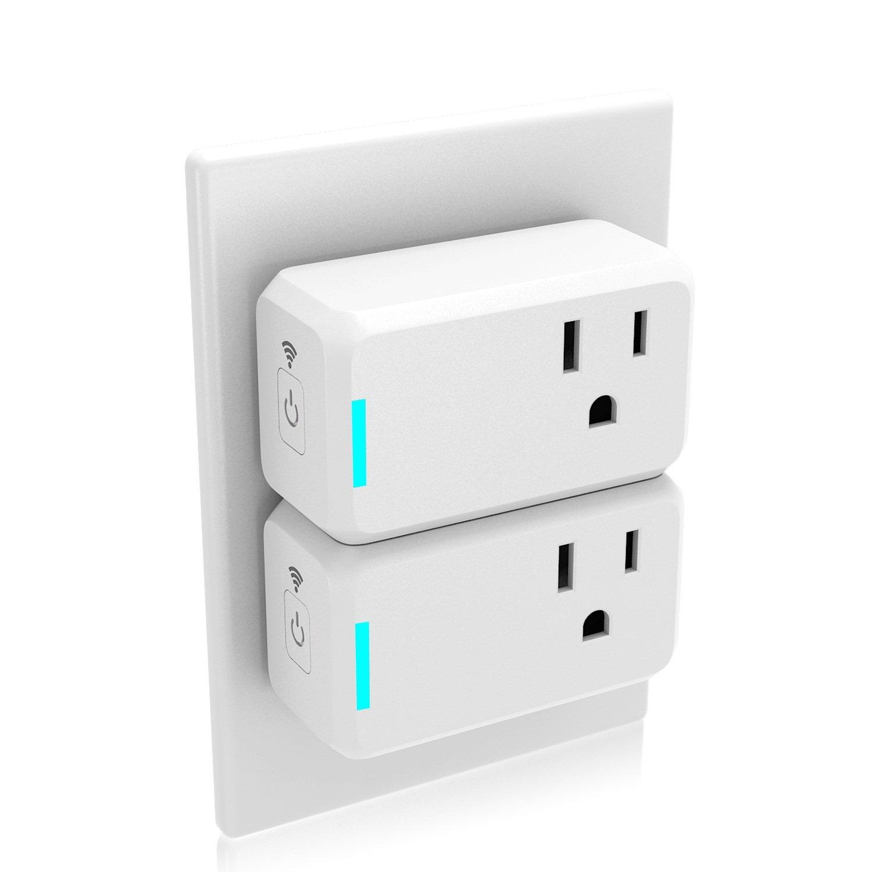 2-Pack Gosund WiFi Smart Plugs (Alexa & Google Home Compatible)