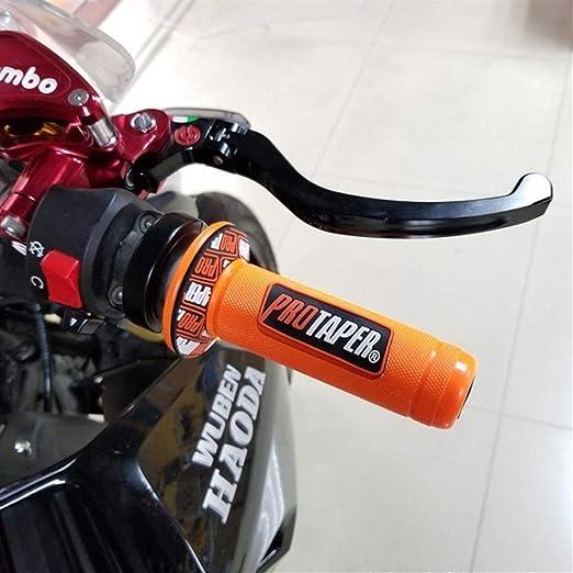 Colore : Arancia ZSYUN Moto Manubrio Moto Parte Racing Moto for Protaper Husqvarna Yamaha K T M Grip Pit Accessori universali Coperchio Cassa Cambio Bracciolo per Moto