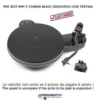 Pro-Ject RPM 3 Carbon Black Tocadiscos con cabezal: Amazon.es ...