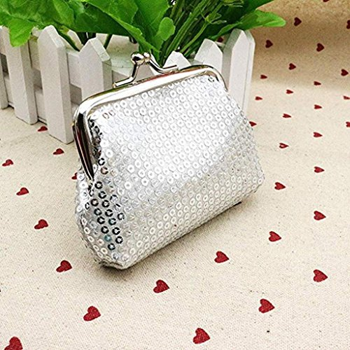 Purse Retro Womens Noopvan Sequin 2018 Wallet Handbag Wallet Wallet Clutch Coin Ladies Clearance Siliver Small FxIqzSw