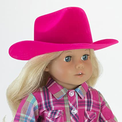 7716dcb86af Hot Pink Cowgirl Doll Hat for the 18 Inch Doll Clothes for the Horse Riding  American
