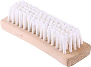 BESTonZON Multi-use Clothes Shoes Brush Washing Scrubbing Brush Spotting Brush Soft Nylon Bristles Laundry Cleaning Brush with Wooden Handle for Jackets and Coats (White)