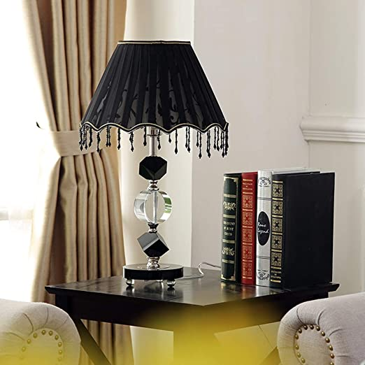 Lámpara de Mesa Sencillo Moderno Americano Cristal Negro con ...