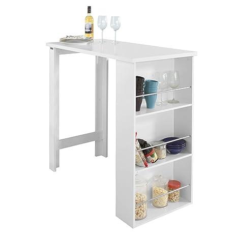Sobuy Tavolo Alto Da Bar In Bianco Bancone Bar Da Casa Fwt17 W