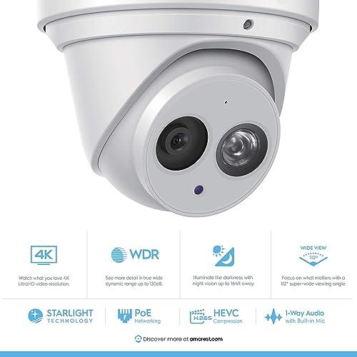 Amcrest UltraHD 4K 8MP Outdoor Security IP Turret PoE Camera