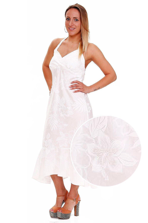 Pacific Legend | Original Hawaiikleid | Damen | S - XXL | Sommer | Hawaii-Print | Blumen | Weiß