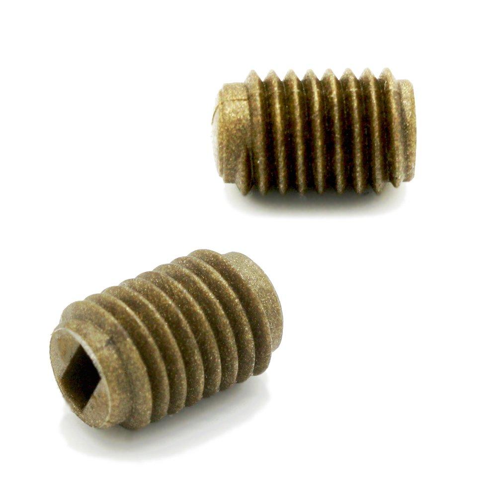 Kunststoff Madenschraube M7 x 1 Schwarz/Weiß / Gold 3 Stück Länge 10mm Gewinde-Schraube Feststellschraube Gewindenippel Gewindestift Wurmschraube (Weiß) Ardith
