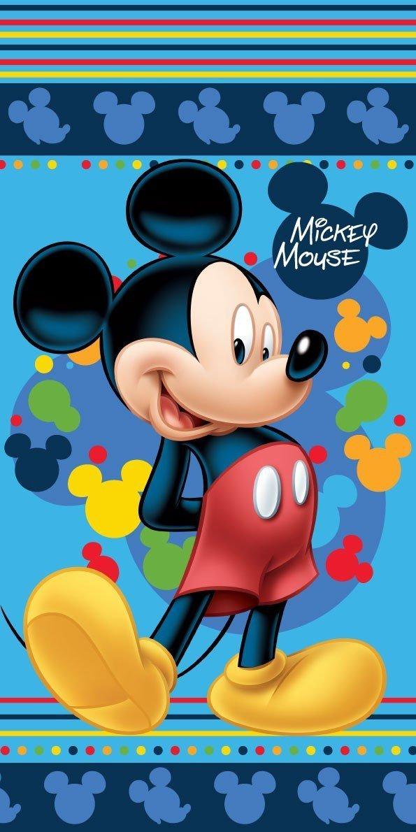Jerry Fabrics 226128 Mickey and Minnie in Paris Handtuch, Baumwolle, weiß/Grau / Rot, 140 x 70 cm weiß/Grau / Rot Hubei Yabi