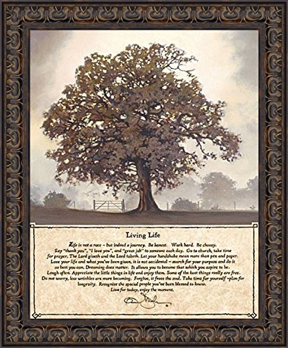 Home Cabin Décor Living Life by Bonnie Mohr 20x24 Life is A Journey Inspirational Quote Tree Framed Art Print Picture (Trees Of Pictures)