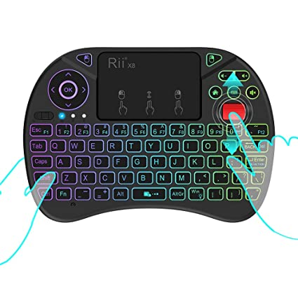 77038d25888 Image Unavailable. Image not available for. Color: Rii X8 2.4GHz Mini  Wireless Keyboard ...