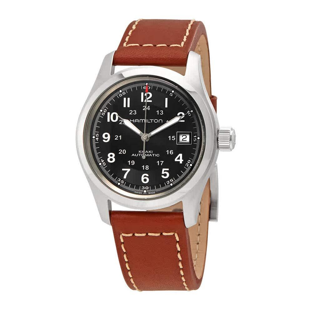 Hamilton Men's HML-H70455533 Khaki Field Black Dial Watch by Hamilton