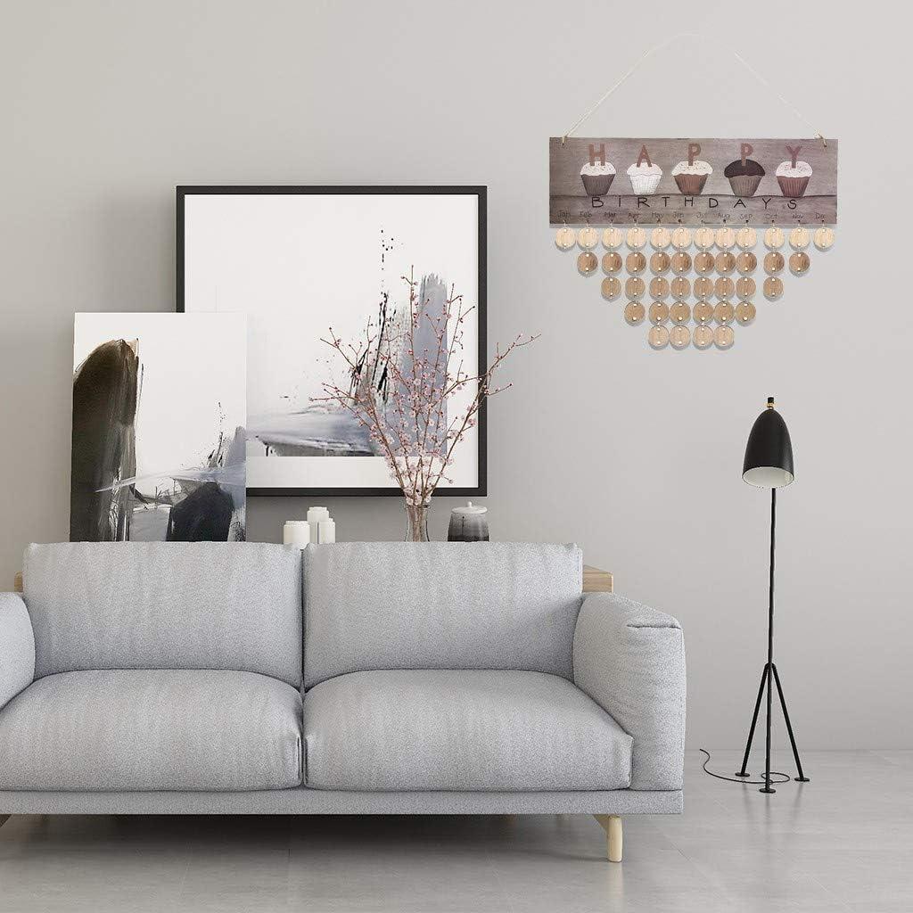 Geburtstagskalender Holz Kalender Handwerk Kreative DIY Handgemachte Kalender Auflistung Wandbehang Kalender Erinnerung Bord Plaque Schwimm Regale Home Modern Art Decor