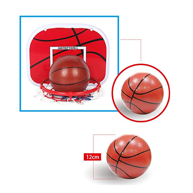 MOEGEN Kids Adjustable Portable Basketball Hoop with Basketbal 5ft Back Board Stand Net Toy Indoor Outdoor Sport Game