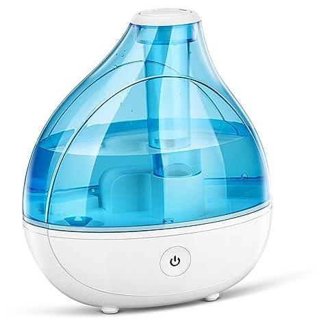 300ml Bebé Humidificador Ultrasónico Aromaterapia, Seguridad y Añadir la Humedad, con vapor frío sano