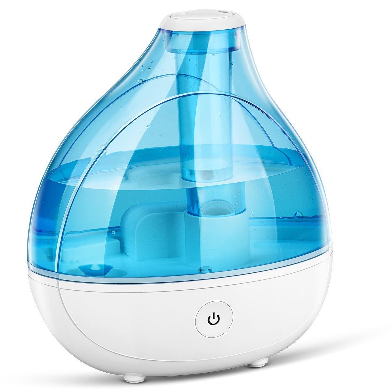 VicTsing 11152017 - Humidificador Bebé Seguridad Ultrasónico, Silencioso, Ambientador, Boquilla 360° Grados
