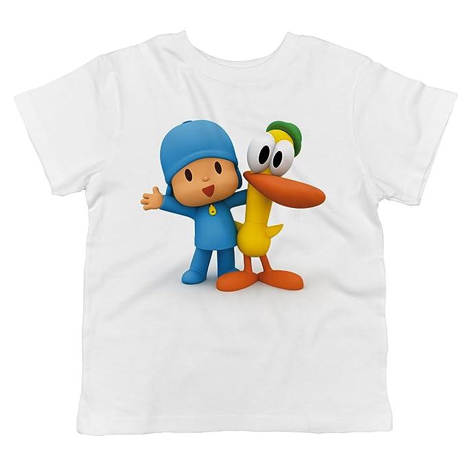Amazon.com: Pocoyo – Pocoyo y pato abrazando bebé playera de ...