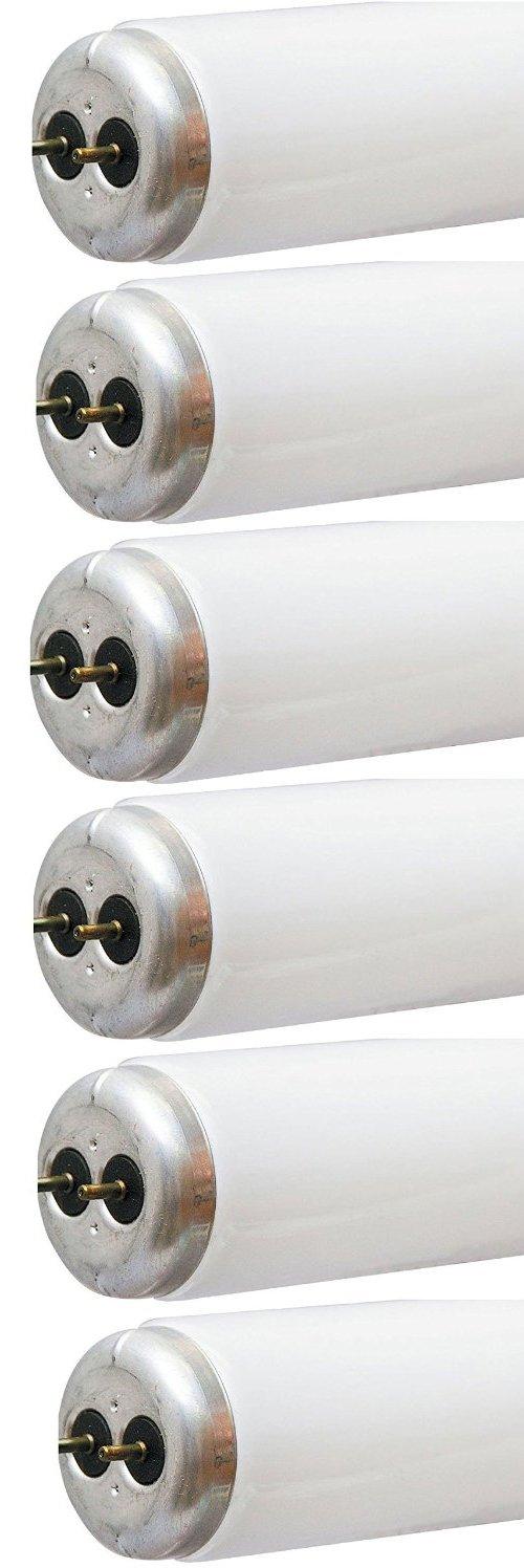 GE Lighting Garage Lighting & Basement 80046 20-Watt, 1200-Lumen T12 Light Bulb with Medium Bi-Pin Base, 6-Pack