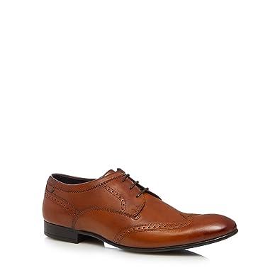 Base London Chaussures Richelieu En Cuir Noir - Purcell TjJ1m
