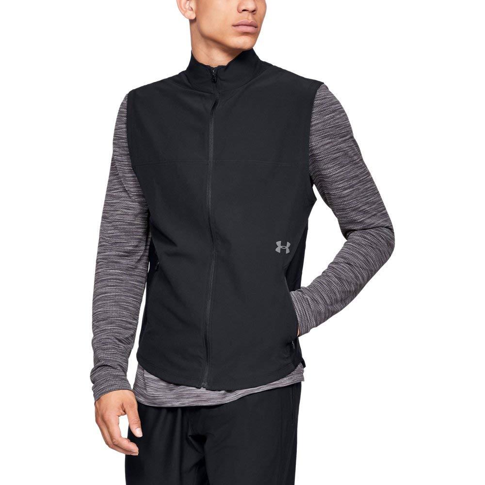 Under Armour Men's Threadborne Vanish Vest, Black (001)/Steel, Small