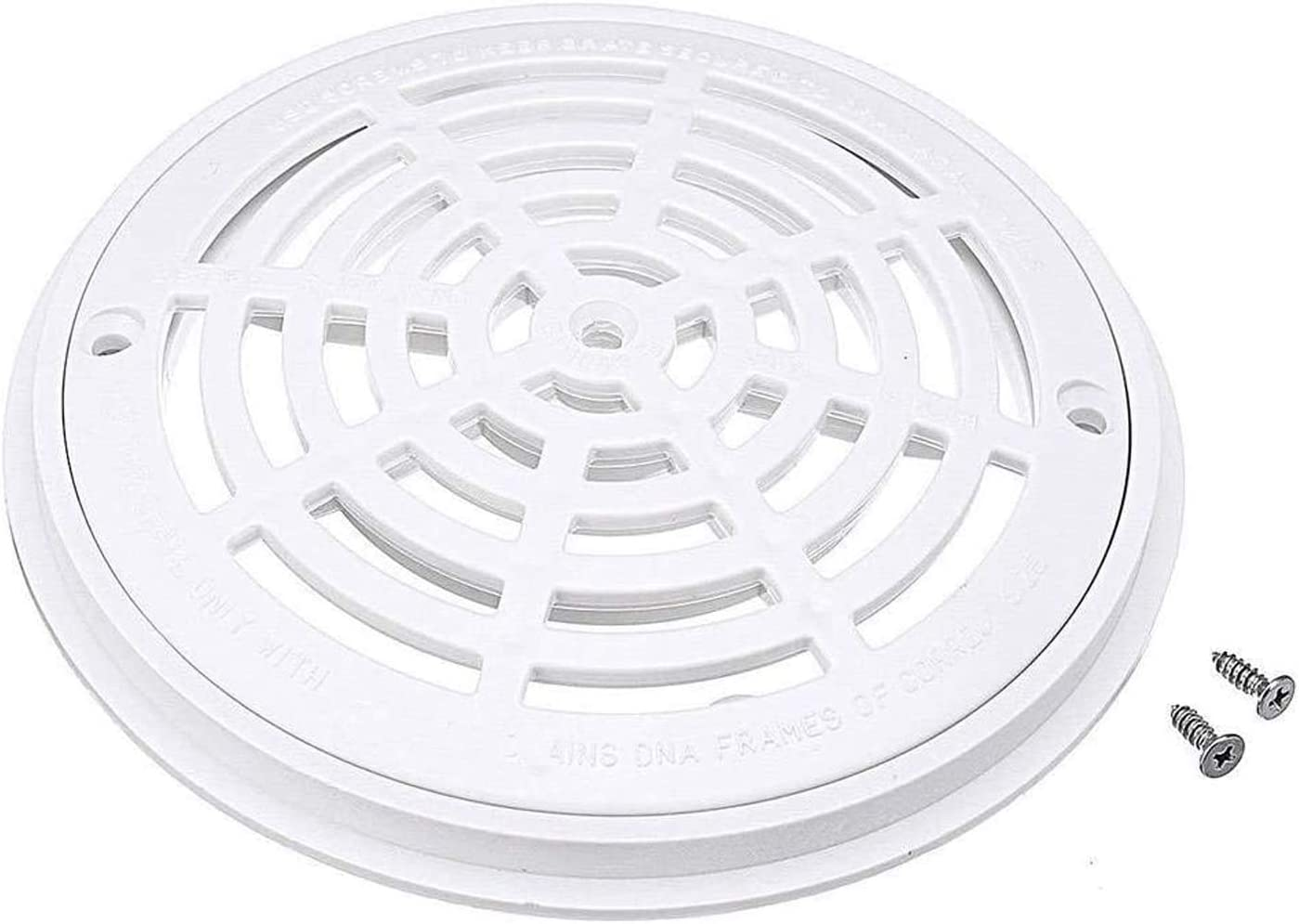 Amazon Com 8 Inch Replacement White Universal Round Swimming Pool Main Drain Cover Garden Outdoor