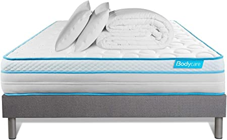 Pack 140 x 190 colchón BodyMax + somier Kit Gris + edredón ...